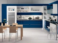 Kitchen Furniture Asia Laccata Luc Blu