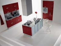 Kitchen Furniture Asia Lucido Rosso