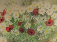 Painting: Flowers in the field